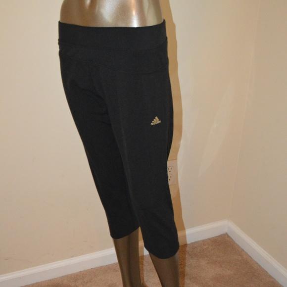 7c280ef0f076 adidas Pants - adidas black capri over knee pant Climalite SZ L